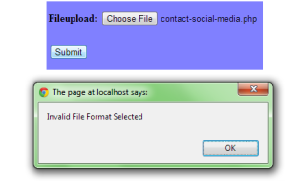 Javascript validation for File uploading format - Freeze Coders