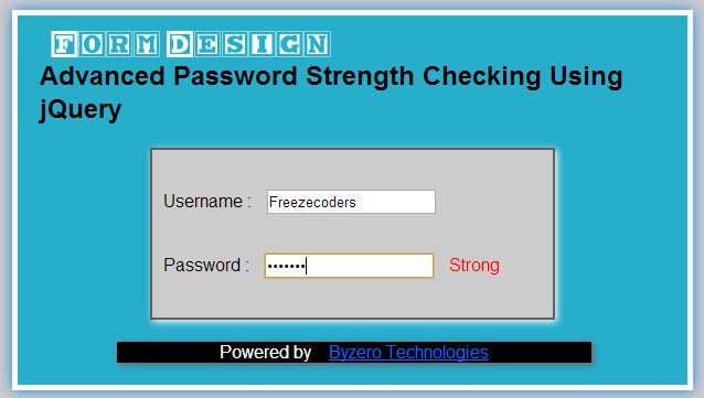 Advanced password strength check