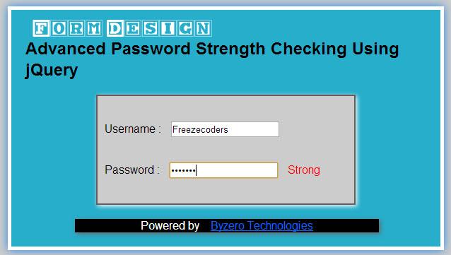 Advanced password strength check